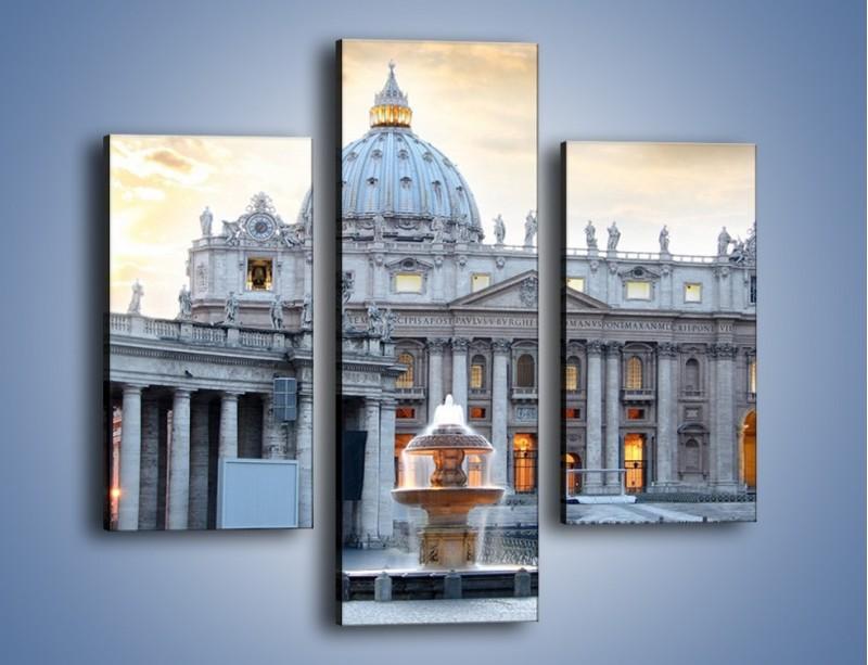 Obraz na płótnie – Bazylika św. Piotra w Watykanie – trzyczęściowy AM722W3
