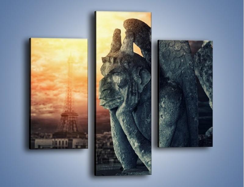 Obraz na płótnie – Paryski gargulec – trzyczęściowy AM741W3