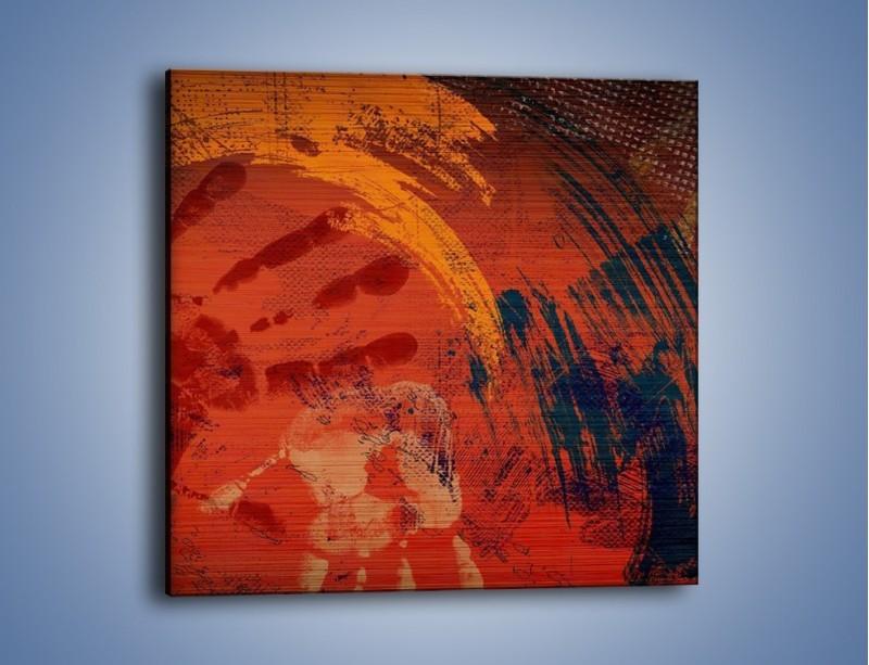 Obraz na płótnie – Ślad po człowieku – jednoczęściowy kwadratowy GR428