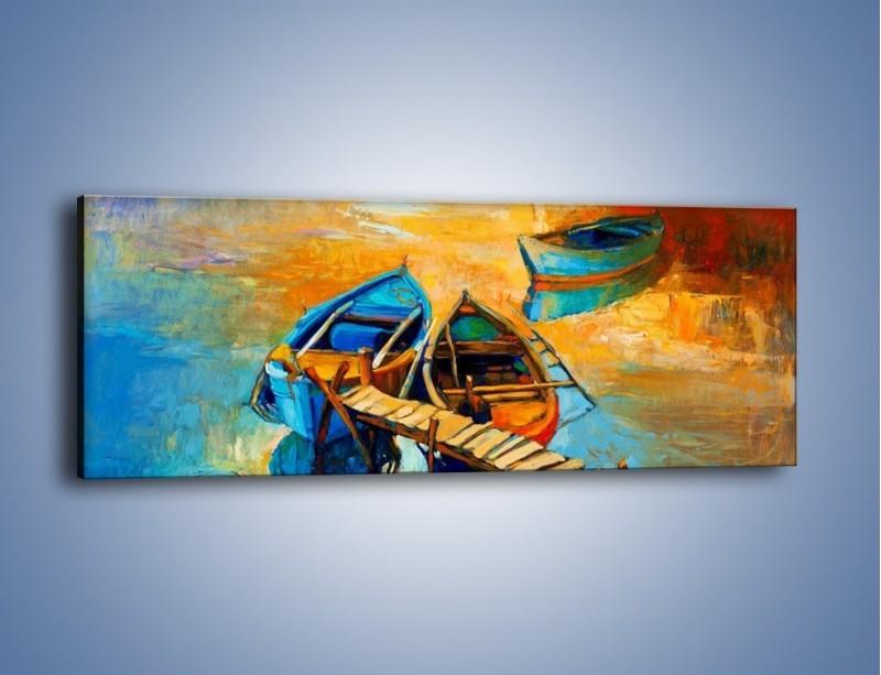 Obraz na płótnie – Bezpośrednio do łódki – jednoczęściowy panoramiczny GR439