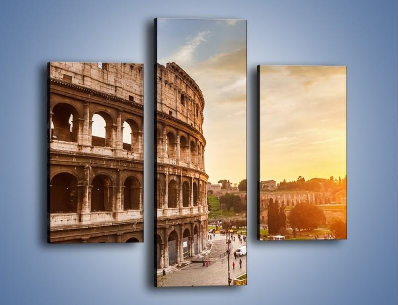 Obraz na płótnie – Zachód słońca nad Rzymem – trzyczęściowy AM763W3