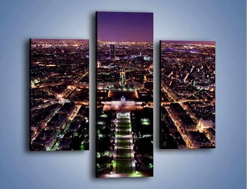 Obraz na płótnie – Panorama Paryża z Wieży Eiffla – trzyczęściowy AM764W3