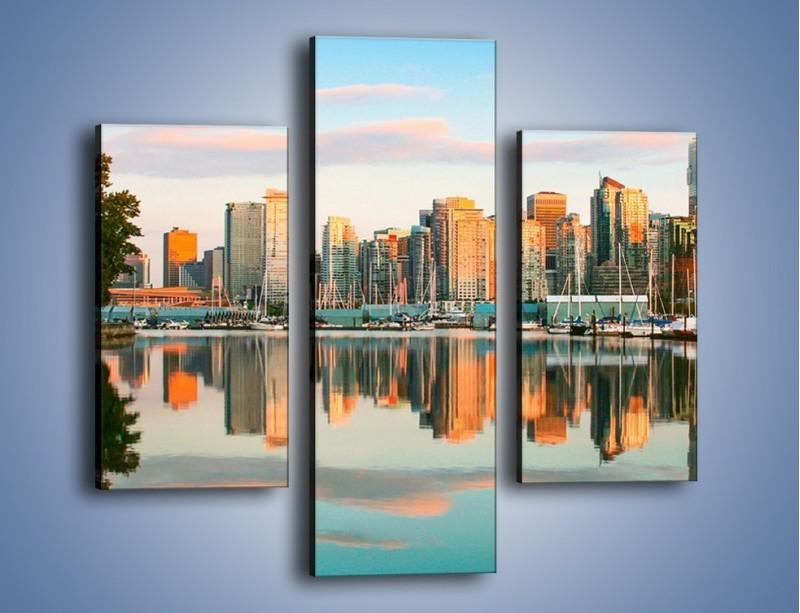 Obraz na płótnie – Widok na Vancouver – trzyczęściowy AM765W3