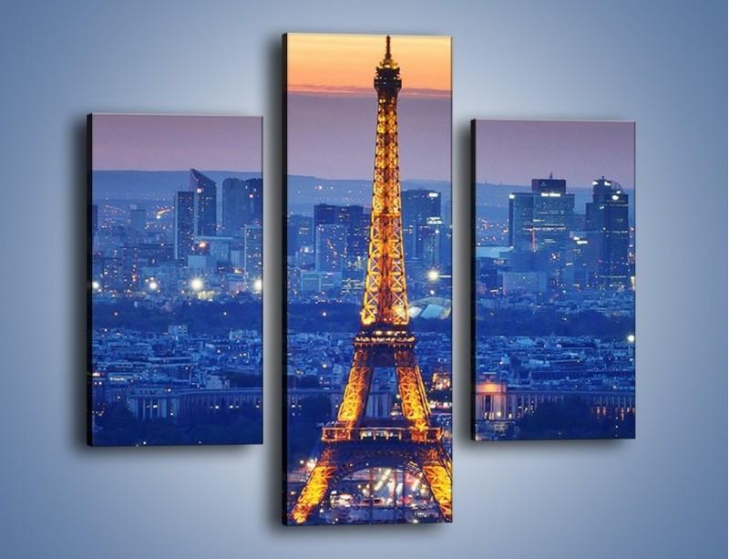 Obraz na płótnie – Światła Wieży Eiffla – trzyczęściowy AM778W3