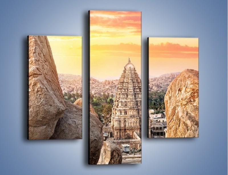 Obraz na płótnie – Świątynia Virupaksha w Indiach – trzyczęściowy AM787W3