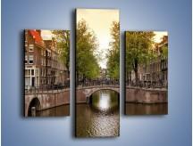 Obraz na płótnie – Amsterdamski kanał – trzyczęściowy AM800W3