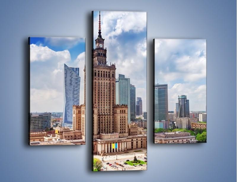Obraz na płótnie – Pałac Kultury i Nauki w Warszawie – trzyczęściowy AM806W3