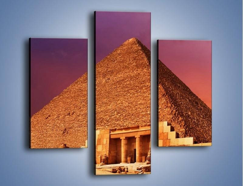 Obraz na płótnie – Piramida w Egipcie – trzyczęściowy AM812W3