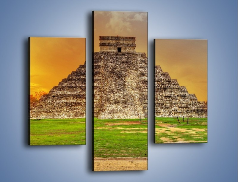 Obraz na płótnie – Piramida Kukulkana w Meksyku – trzyczęściowy AM814W3