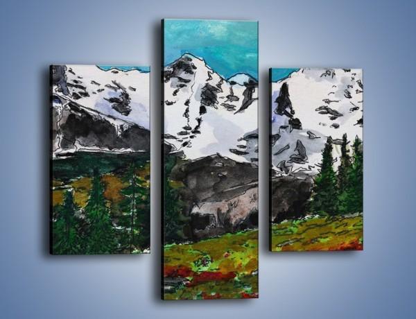 Obraz na płótnie – Góry i ich roślinność – trzyczęściowy GR038W3