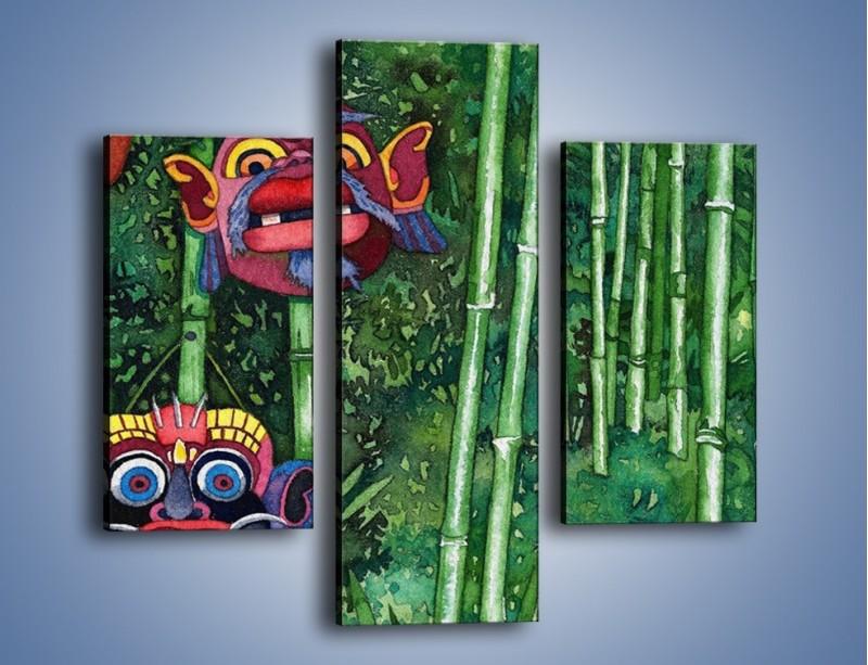 Obraz na płótnie – Maski dzikiego plemienia – trzyczęściowy GR051W3