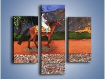 Obraz na płótnie – Arabski szejk na koniu – trzyczęściowy GR052W3