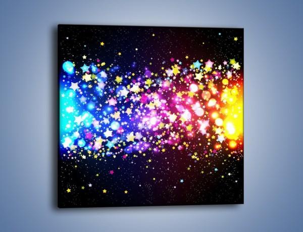 Obraz na płótnie – Kolory widziane nocą – jednoczęściowy kwadratowy GR432