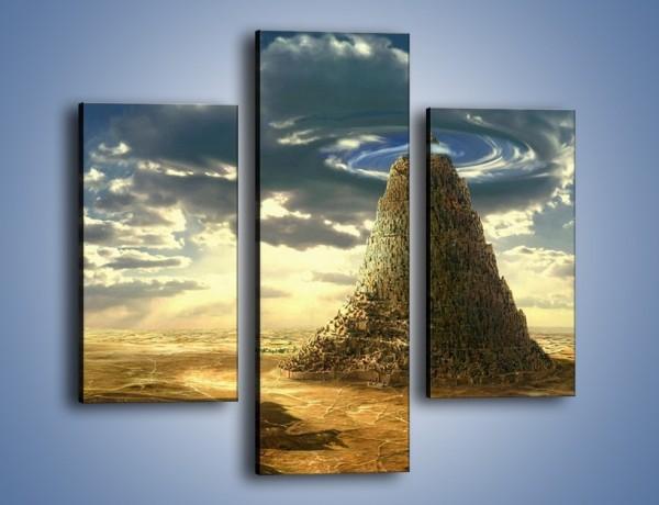 Obraz na płótnie – Przez górę aż do chmur – trzyczęściowy GR139W3
