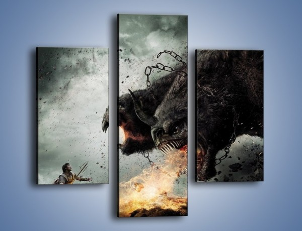 Obraz na płótnie – Groźny podmuch potworów – trzyczęściowy GR174W3
