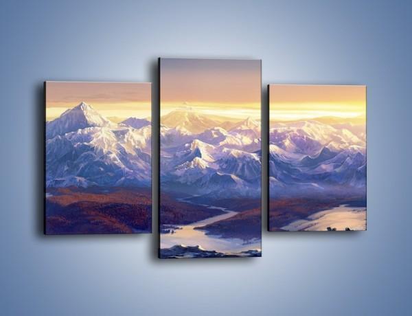 Obraz na płótnie – Górskim szlakiem z cudnym widokiem – trzyczęściowy GR194W3