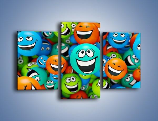 Obraz na płótnie – Uśmiech pełną gębą – trzyczęściowy GR196W3