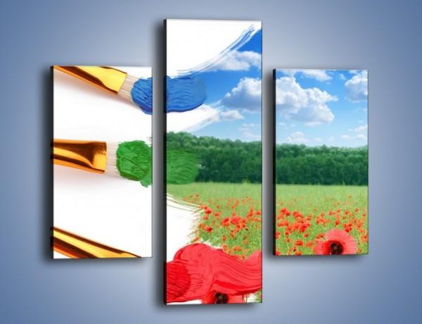 Obraz na płótnie – Moc w każdym kolorze – trzyczęściowy GR202W3
