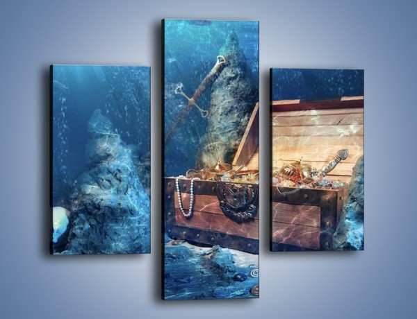 Obraz na płótnie – Zatopione skarby – trzyczęściowy GR205W3
