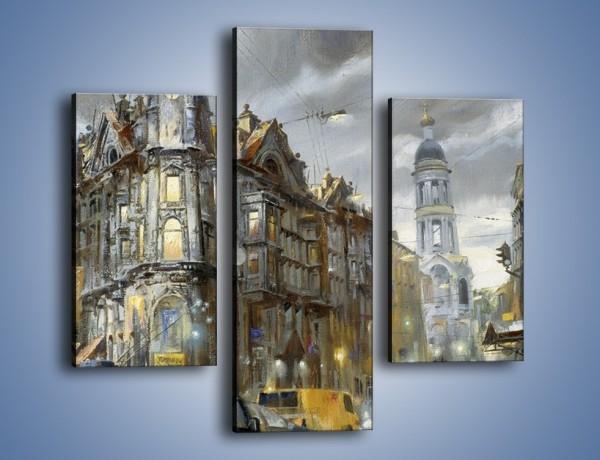 Obraz na płótnie – Ścisk miejskich uliczek – trzyczęściowy GR233W3