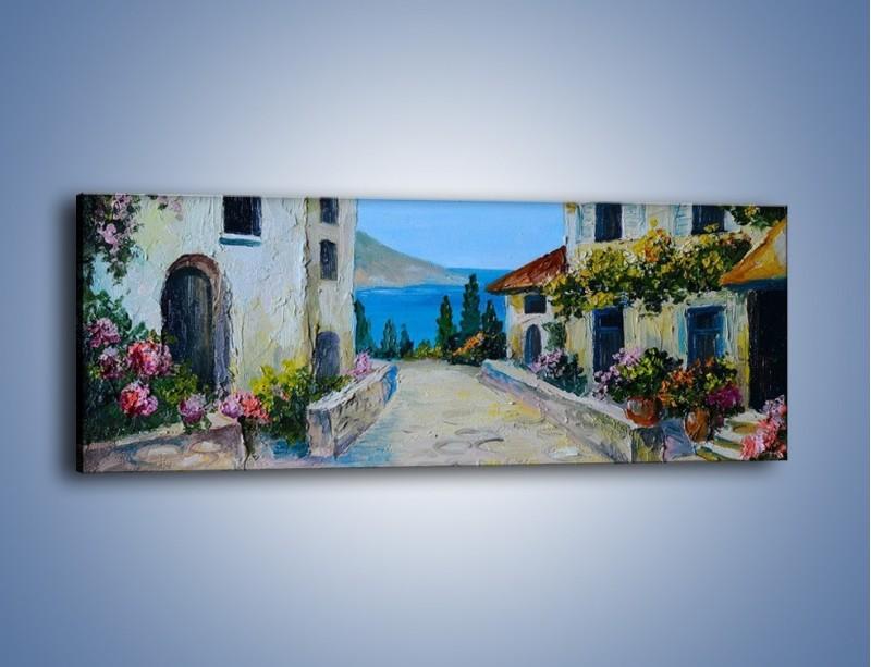 Obraz na płótnie – Urok włoskich uliczek – jednoczęściowy panoramiczny GR459