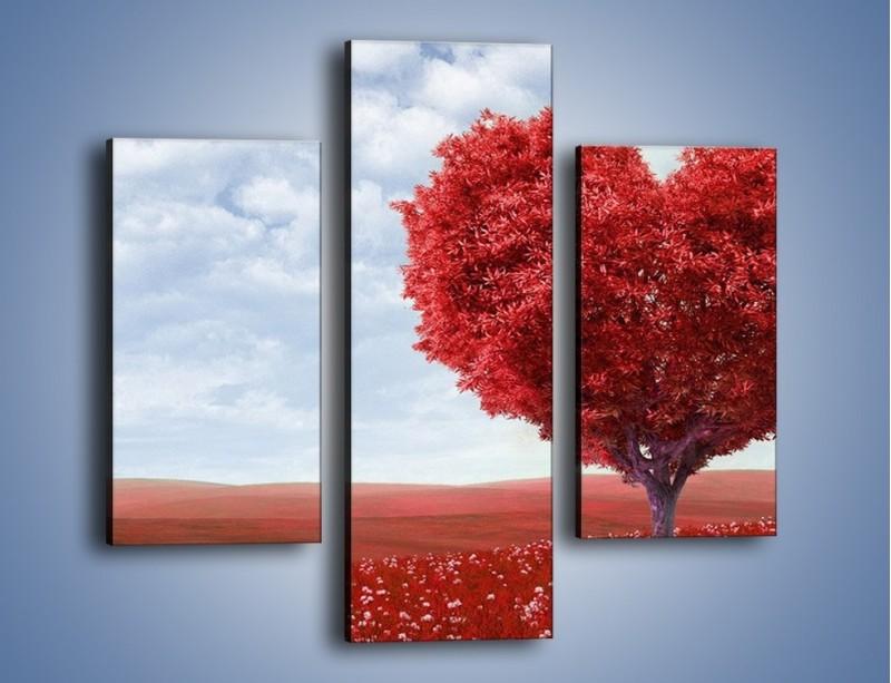 Obraz na płótnie – Polaną w stronę miłości – trzyczęściowy GR249W3