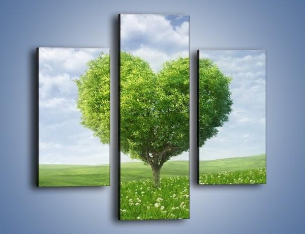 Obraz na płótnie – Miłość w zieleni – trzyczęściowy GR250W3