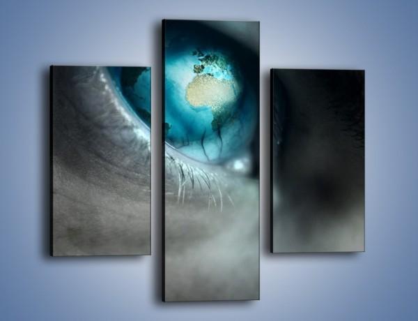 Obraz na płótnie – Oko otwarte na świat – trzyczęściowy GR256W3