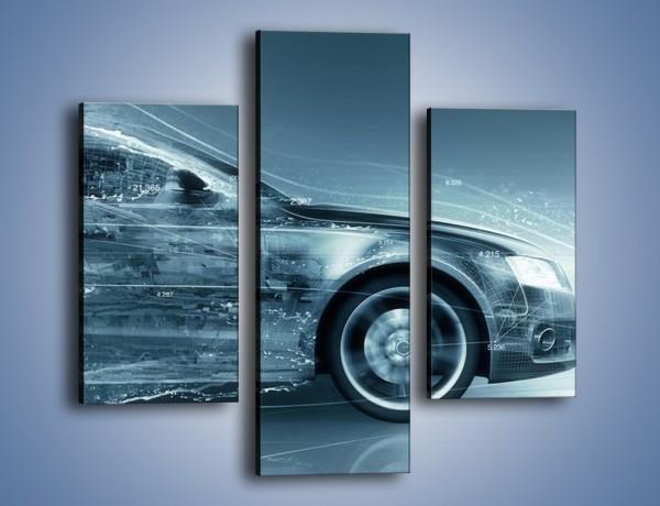 Obraz na płótnie – Auto z prędkością światła – trzyczęściowy GR264W3