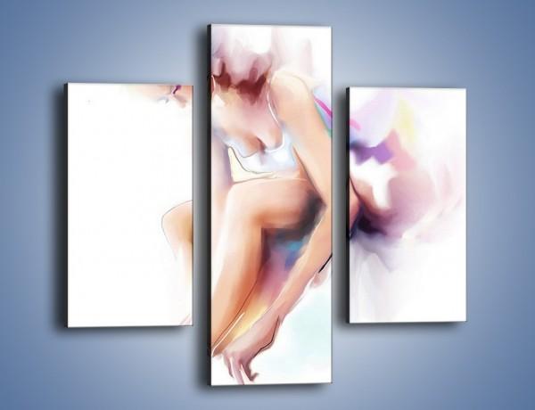 Obraz na płótnie – Delikatność baletnicy – trzyczęściowy GR268W3