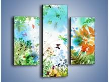 Obraz na płótnie – Baśniowa kraina w kolorach – trzyczęściowy GR270W3
