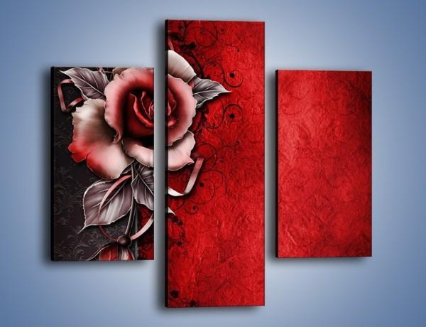 Obraz na płótnie – Róża z odpowiednim podziałem – trzyczęściowy GR274W3