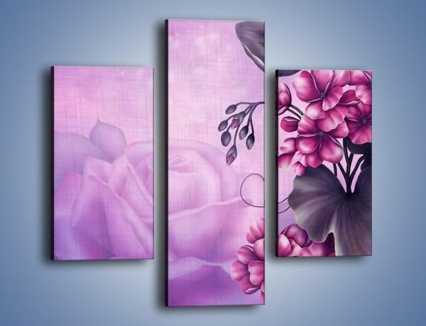 Obraz na płótnie – Kwiaty z krainy baśni – trzyczęściowy GR276W3