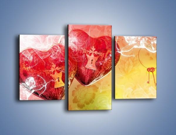 Obraz na płótnie – Strzał amora w serce – trzyczęściowy GR279W3