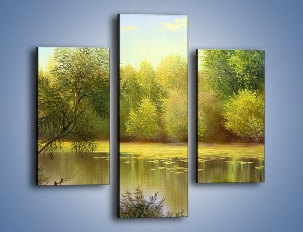 Obraz na płótnie – Wodny świat i drzewa – trzyczęściowy GR289W3