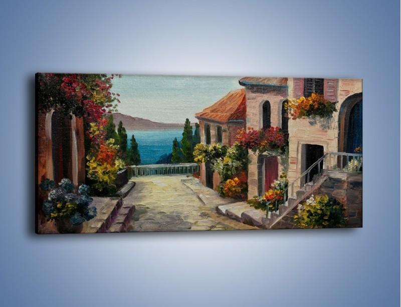 Obraz na płótnie – Powolnym krokiem w stronę morza – jednoczęściowy panoramiczny GR461