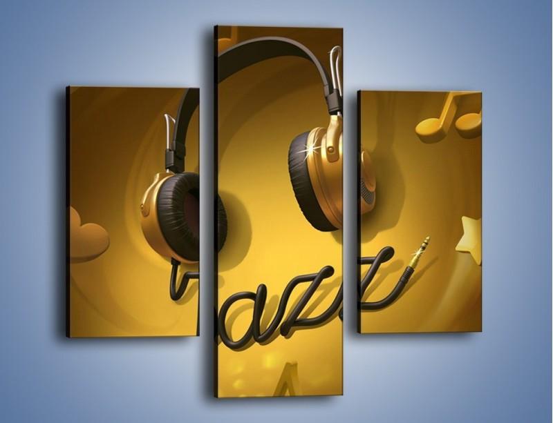 Obraz na płótnie – Złote nuty jazzu – trzyczęściowy GR305W3