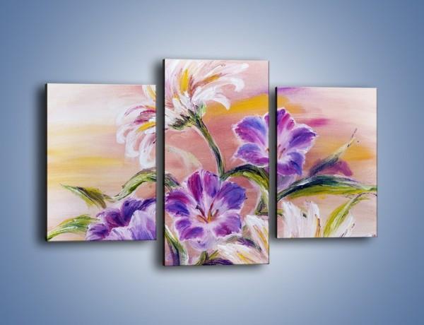 Obraz na płótnie – Kwiaty w swoim gronie – trzyczęściowy GR325W3