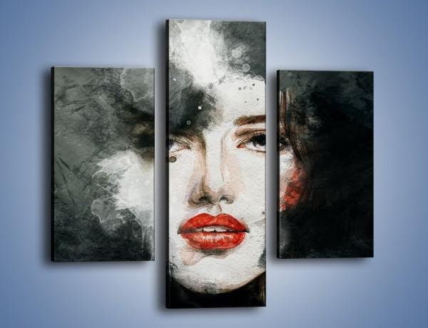 Obraz na płótnie – Czarna dama – trzyczęściowy GR329W3