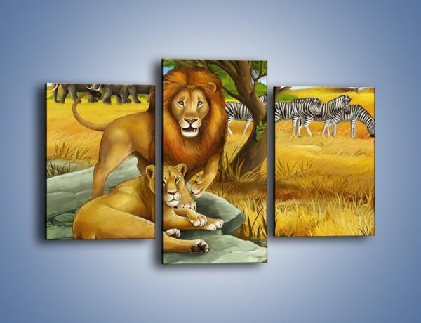 Obraz na płótnie – Zwierzęta na sawannie – trzyczęściowy GR336W3
