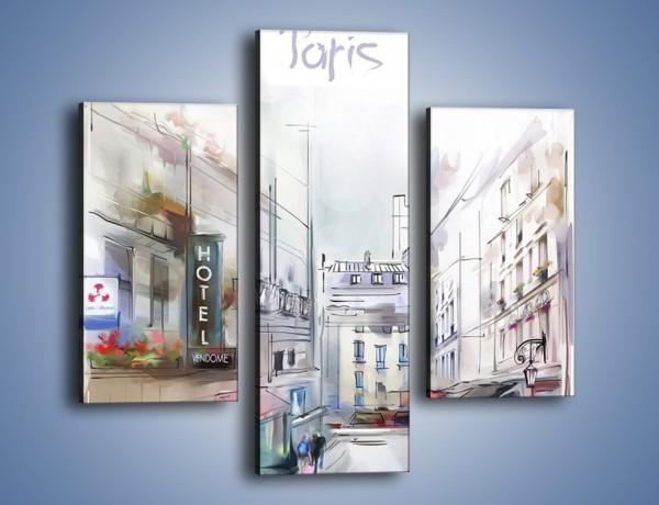 Obraz na płótnie – Urok paryża za dnia – trzyczęściowy GR342W3