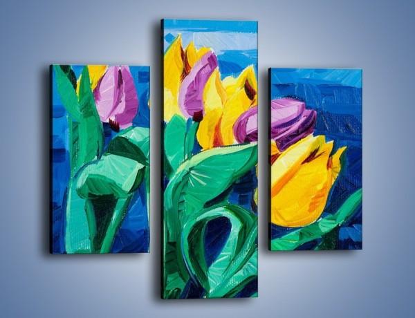 Obraz na płótnie – Kto nie lubi tulipanów – trzyczęściowy GR344W3