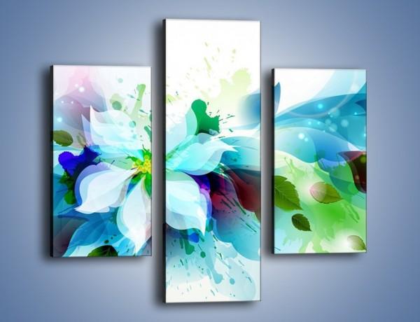Obraz na płótnie – Kwiat i jego magia – trzyczęściowy GR348W3