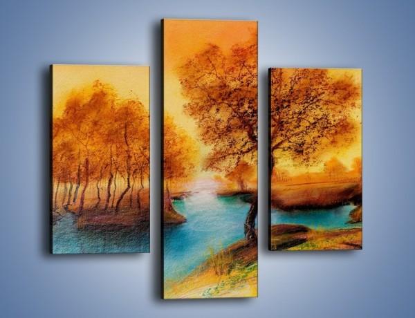 Obraz na płótnie – Drzewa nad samą wodą – trzyczęściowy GR352W3