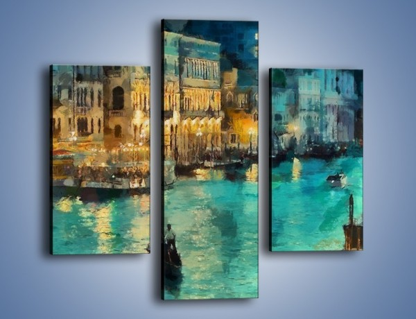 Obraz na płótnie – Wenecja nocą – trzyczęściowy GR354W3