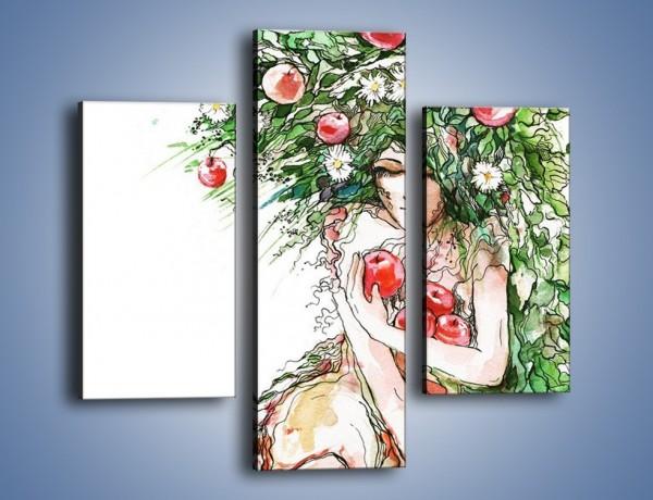 Obraz na płótnie – Jabłoń dobrze ukryta – trzyczęściowy GR375W3