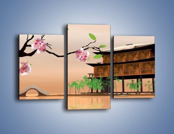 Obraz na płótnie – Pamiątka z japonii – trzyczęściowy GR386W3