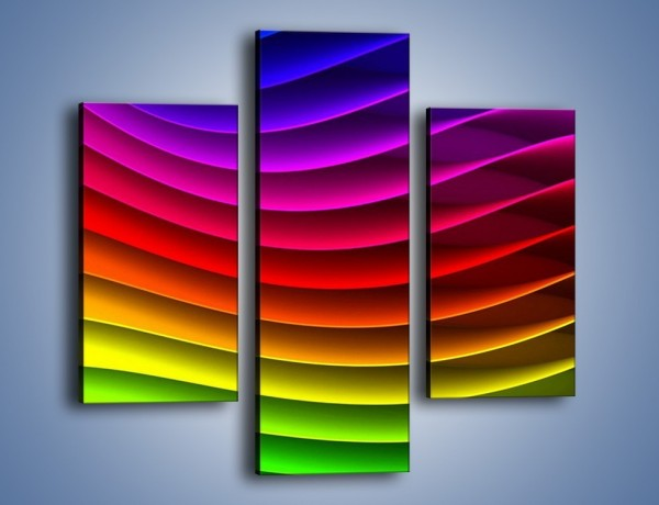 Obraz na płótnie – Falą w kolorze – trzyczęściowy GR393W3