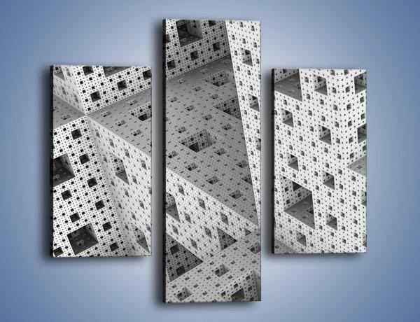 Obraz na płótnie – Budynki z klocków – trzyczęściowy GR410W3