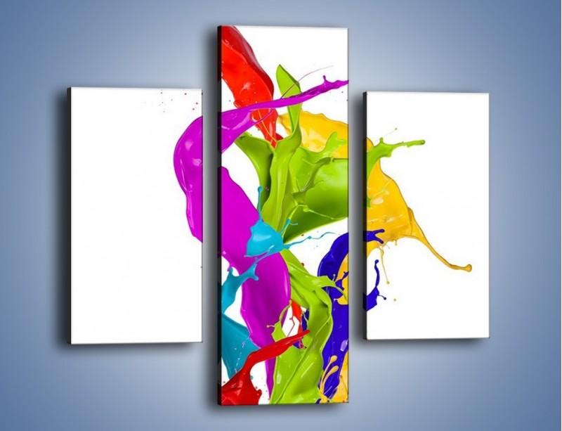 Obraz na płótnie – Wirujące barwy – trzyczęściowy GR420W3